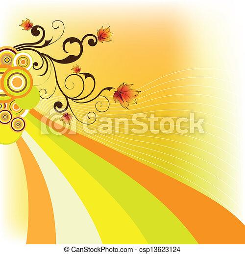 autumn background - csp13623124