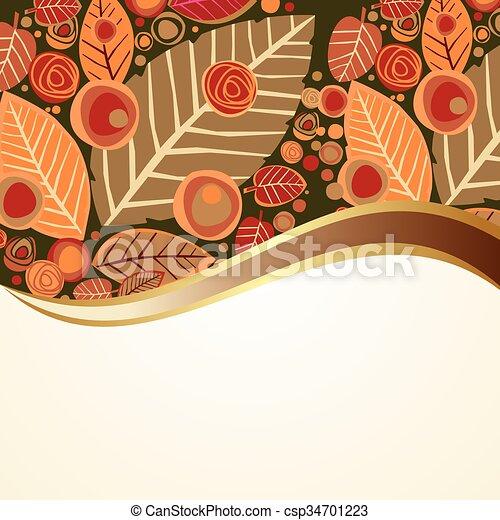 autumn background - csp34701223