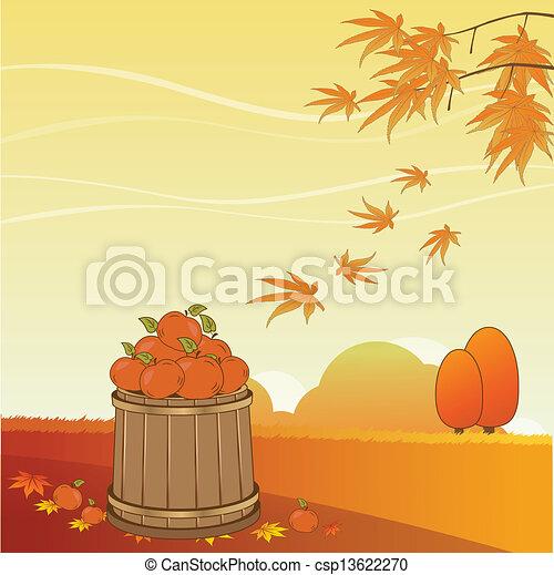 autumn background - csp13622270