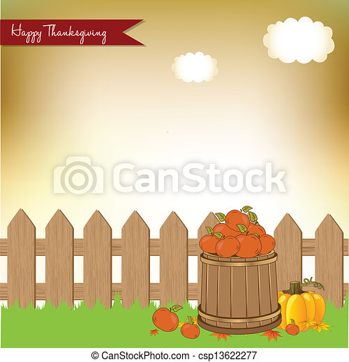 autumn background - csp13622277