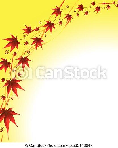 autumn background  leaves - csp35143947