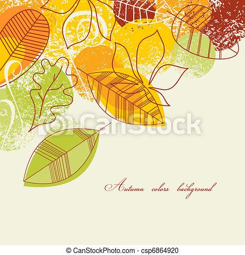 Autumn background - csp6864920