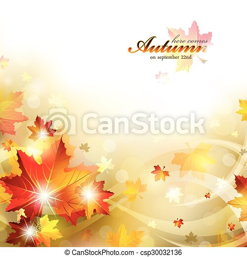 Autumn Background with Foliage - csp30032136