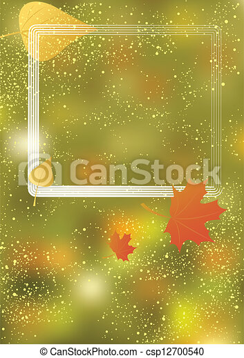 Autumn background with frame - csp12700540