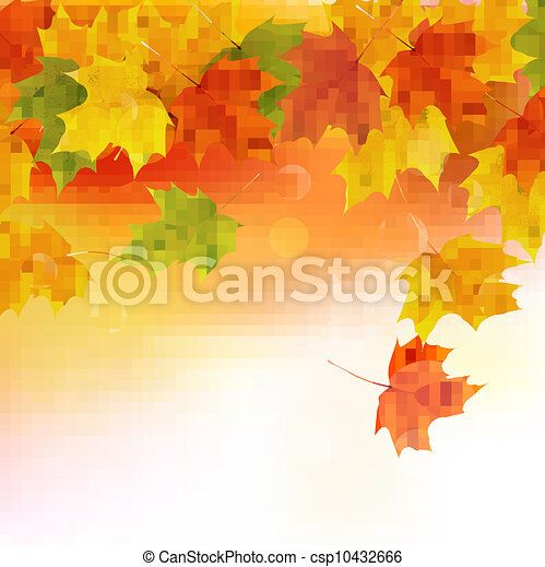 Autumn background with leaves  - csp10432666