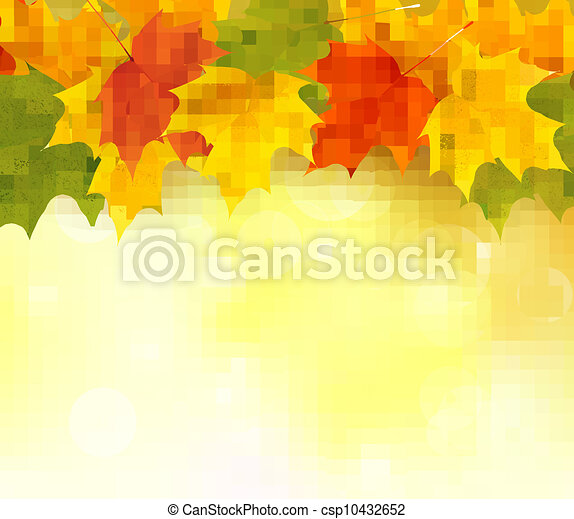 Autumn background with leaves  - csp10432652