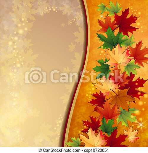 Autumn background with leaves - csp10720851
