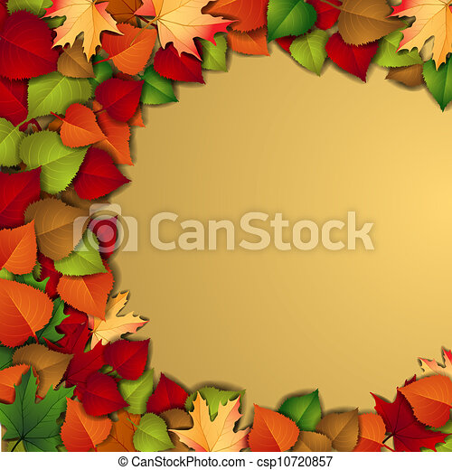 Autumn background with leaves - csp10720857