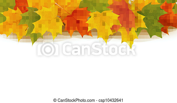 Autumn background with leaves  - csp10432641