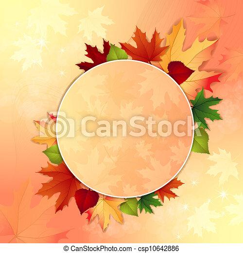 Autumn background with leaves - csp10642886