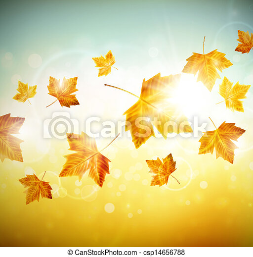 Autumn background with leaves - csp14656788