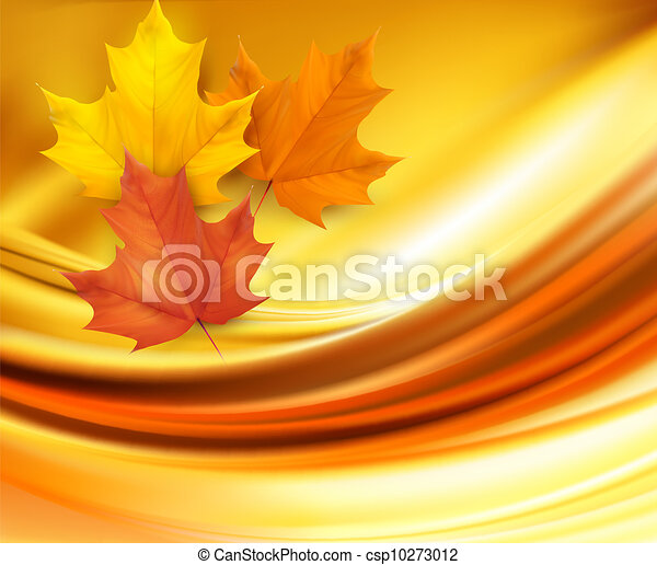 Autumn background with leaves  - csp10273012