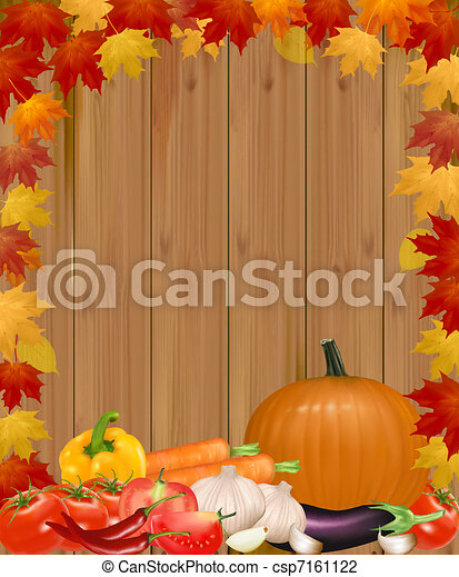 Autumn background with vegetables.  - csp7161122