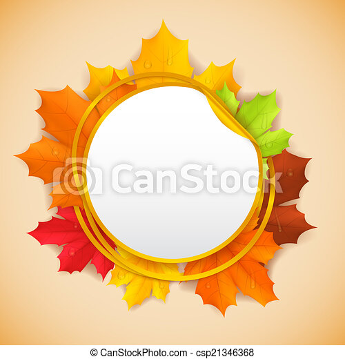 Autumn banner. - csp21346368