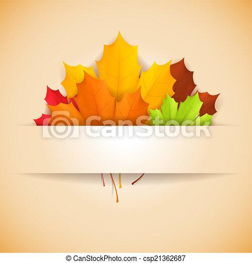 Autumn banner. - csp21362687