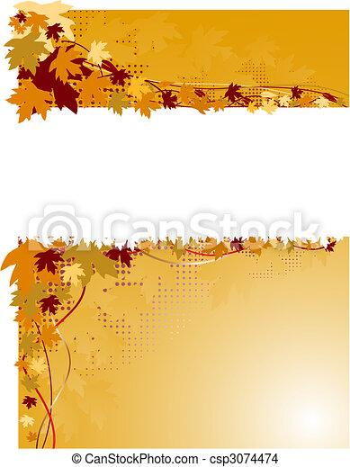 autumn banner - csp3074474