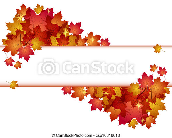 Autumn banner with leaves. - csp10818618