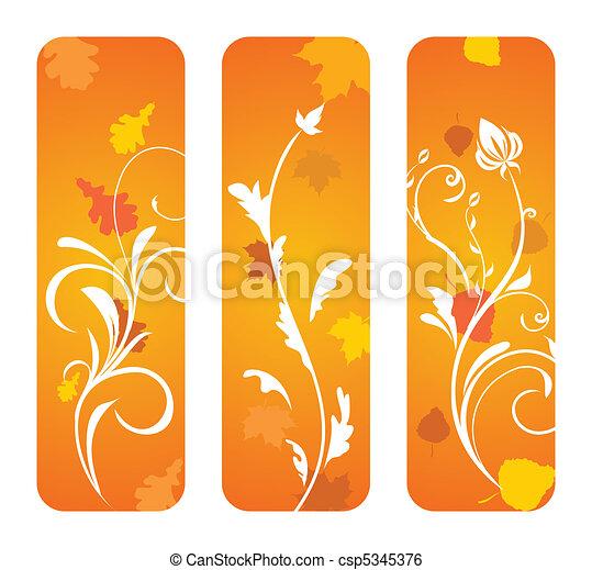 Autumn banners - csp5345376