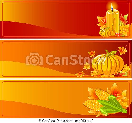Autumn Banners - csp2631449