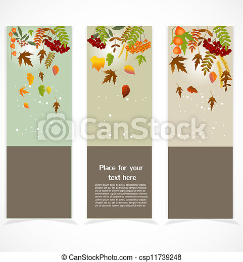 Autumn banners - csp11739248