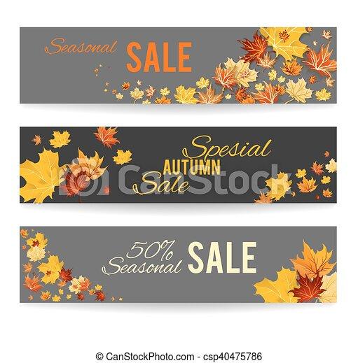 Autumn banners - csp40475786