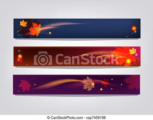 Autumn banners - csp7459198