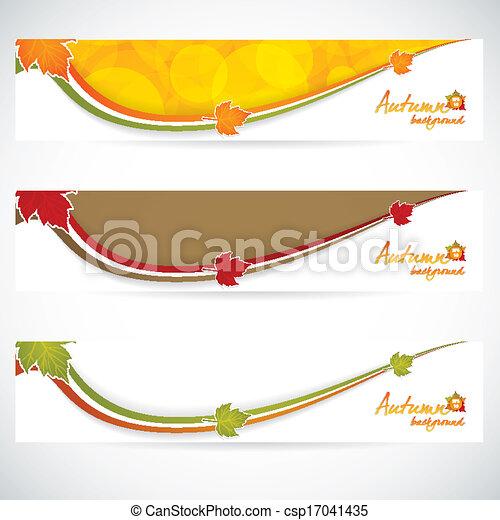 Autumn banners - csp17041435