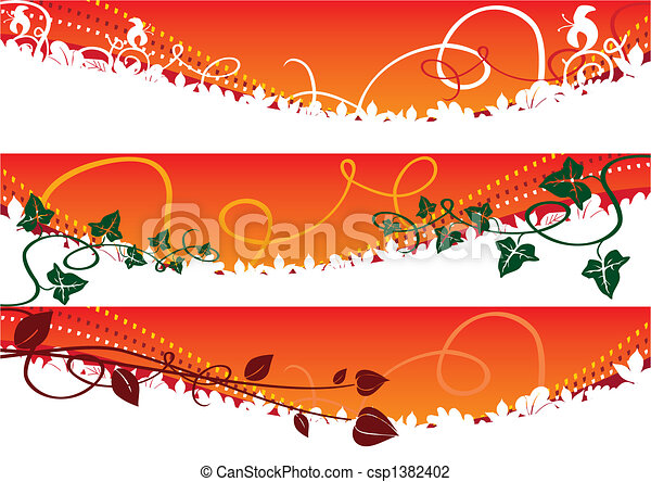 Autumn banners - csp1382402