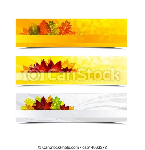 autumn banners - csp14663372