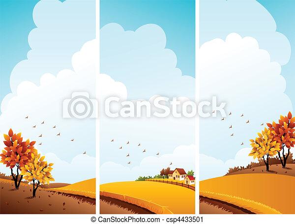Autumn banners - csp4433501