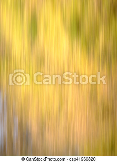 Autumn Blur - Yellows, with hints of Brown, Red & Green - csp41960820