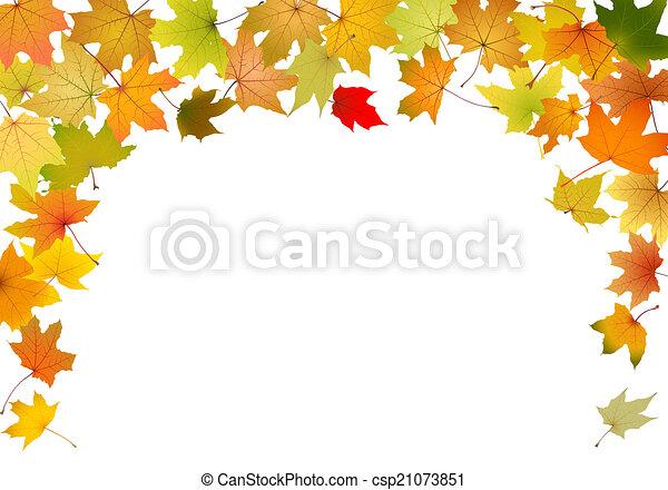 Autumn border - csp21073851