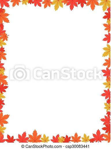 Autumn border design - csp30083441