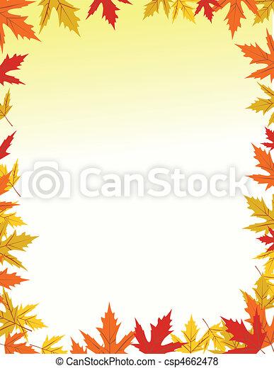 Autumn border design - csp4662478