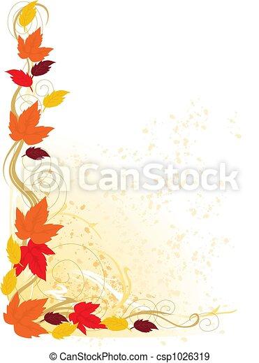 Autumn Border - csp1026319