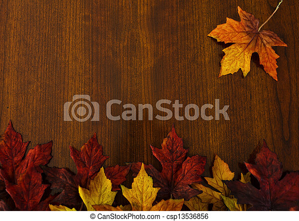 Autumn, changing leaves, nature and Thanksgiving backgrounds. - csp13536856