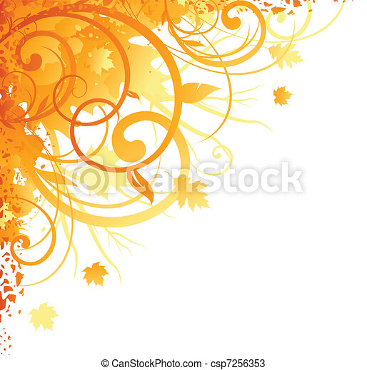 Autumn corner design - csp7256353