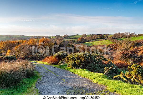 Autumn Country Lane - csp32480459