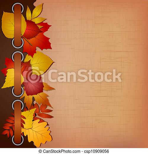 Autumn cover for an album with photos - csp10909056
