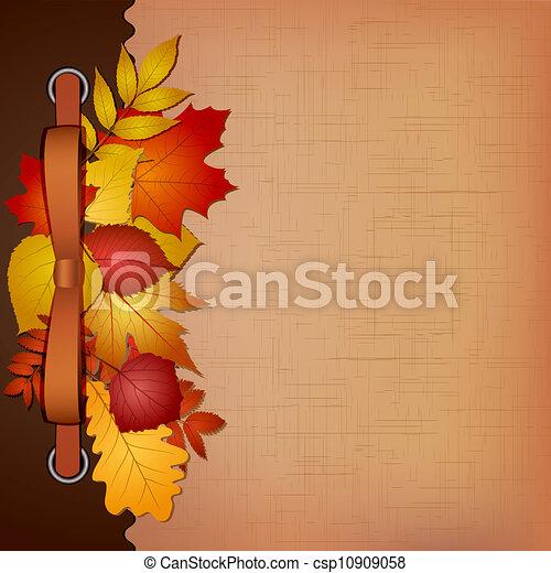 Autumn cover for an album with photos - csp10909058