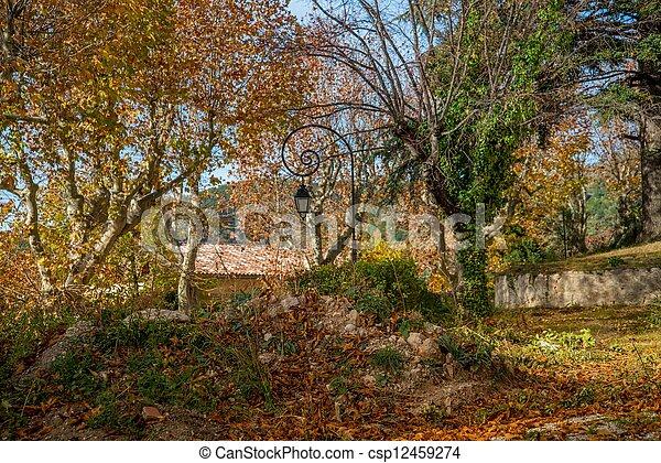 Autumn day in park - csp12459274