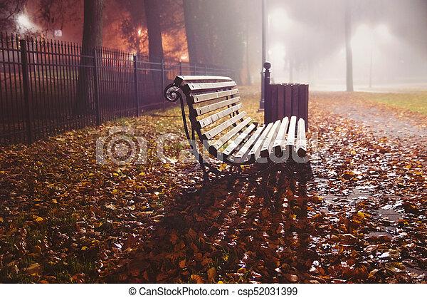 Autumn evening in the park - csp52031399