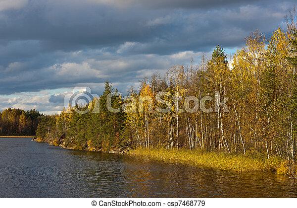 Autumn evening - csp7468779