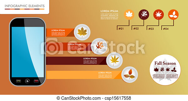 Autumn, Fall season infographic elements graphics template. - csp15617558