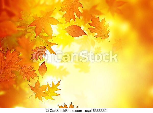 Autumn Falling Leaves - csp16388352