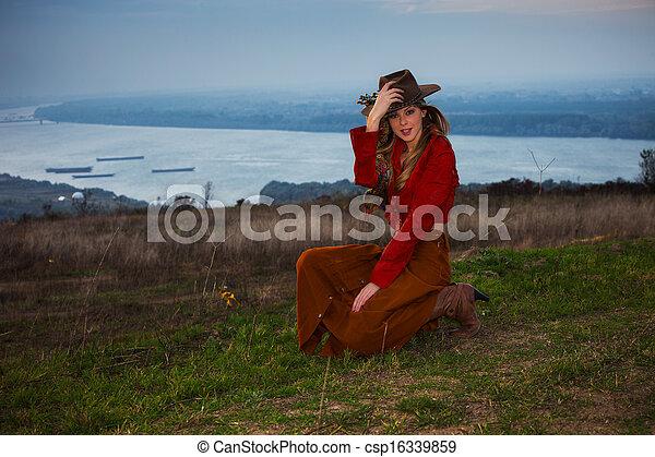 autumn fashion woman - csp16339859