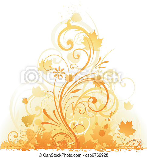 autumn floral design - csp6762928