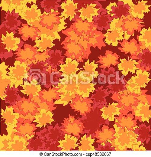 Autumn foliage background - csp48582667