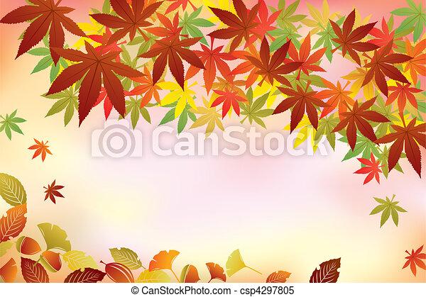 Autumn Foliage Background - csp4297805