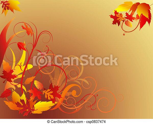 Autumn Foliage Background - csp0837474